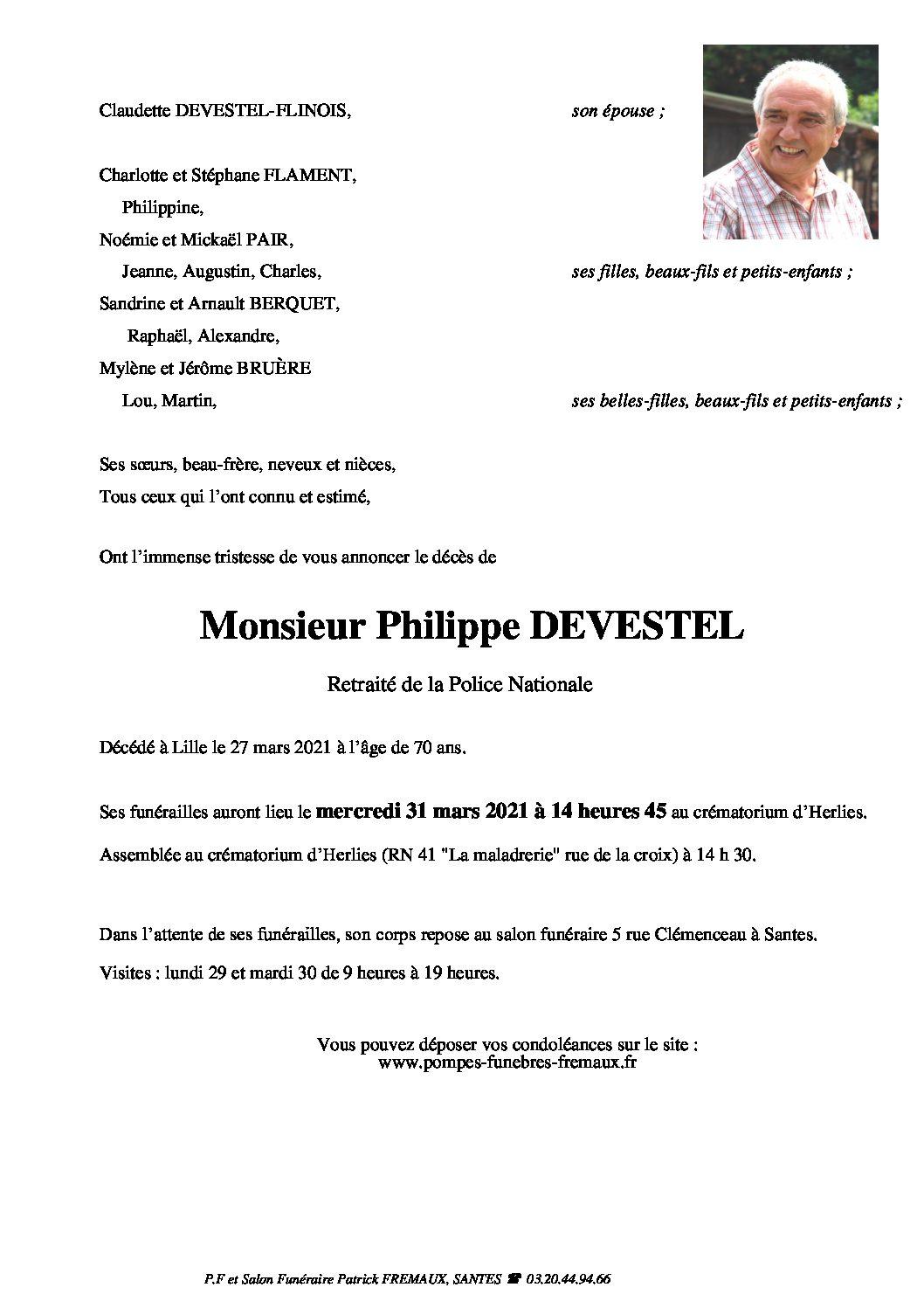 Monsieur Philippe DEVESTEL