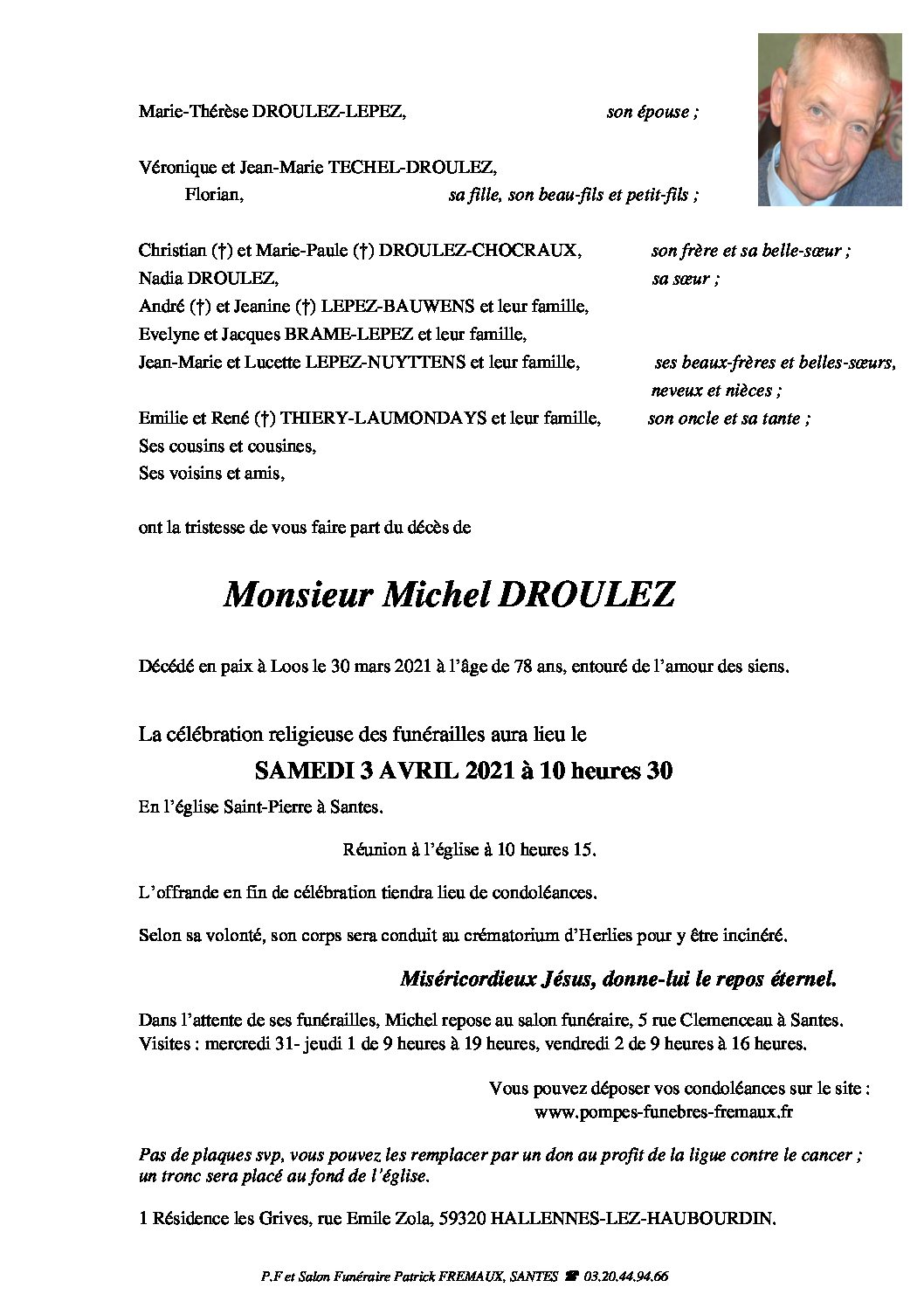 Monsieur Michel DROULEZ