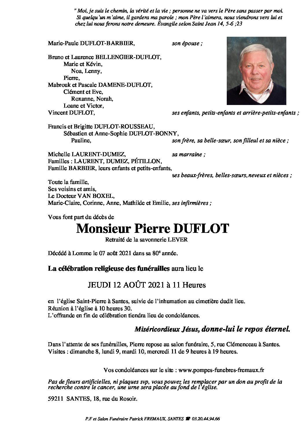 Monsieur Pierre DUFLOT