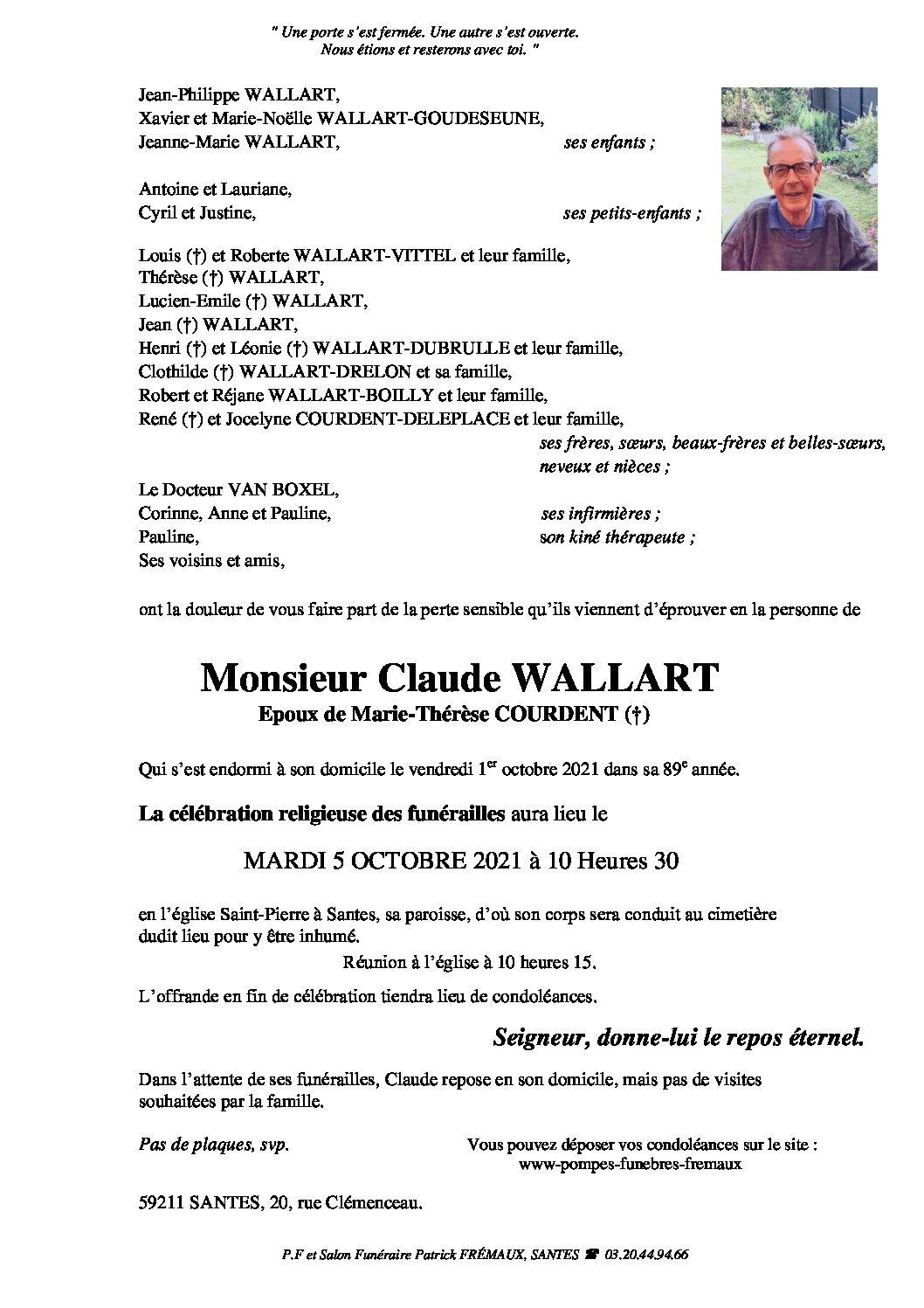 Monsieur Claude WALLART